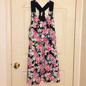 Xhilaration neon floral racerback dress-XL